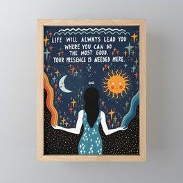 Do the most good Framed Mini Art Print