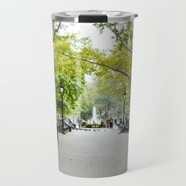 Morning Stroll in the Village Travel Mug