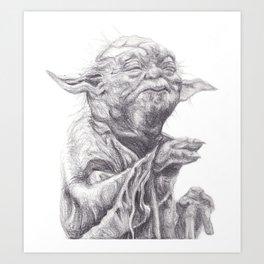 Yoda sketch Art Print