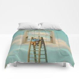 Window cleaner in the sky 02 Comforters