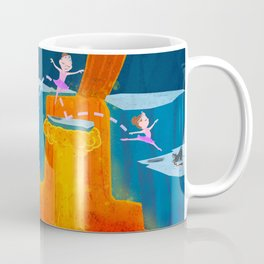 The Ballerina, Lava and Her Puppy Coffee Mug