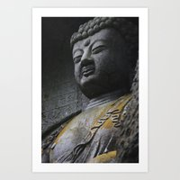 buddah Art Prints featuring Buddah  by Scene by Emily