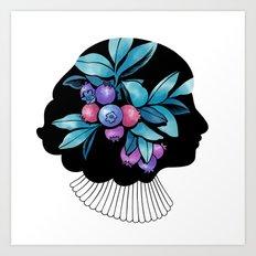 Blueberry Essence Art Print