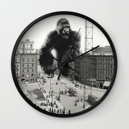 King Kong in Detroit 1907 Wall Clock