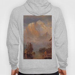Rocky Mountains 1866 By Albert Bierstadt | Reproduction Painting Hoody