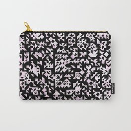 Inverted Black and White Randomness Carry-All Pouch