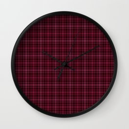 Beautiful plaid 3 Wall Clock