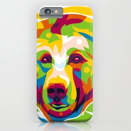 Wild Bear Pop Art iPhone Case