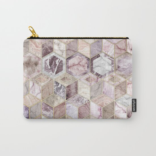 Blush Quartz Honeycomb Carry-All Pouch