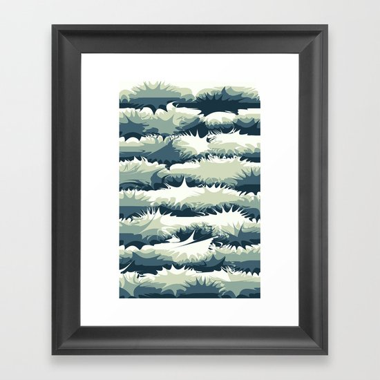 Explosions in the water Framed Art Print
