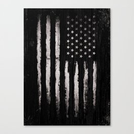 White Grunge American flag Canvas Print