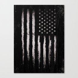 White Grunge American flag Canvas Print