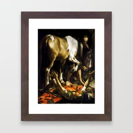 Caravaggio Conversion on the Way to Damascus Framed Art Print