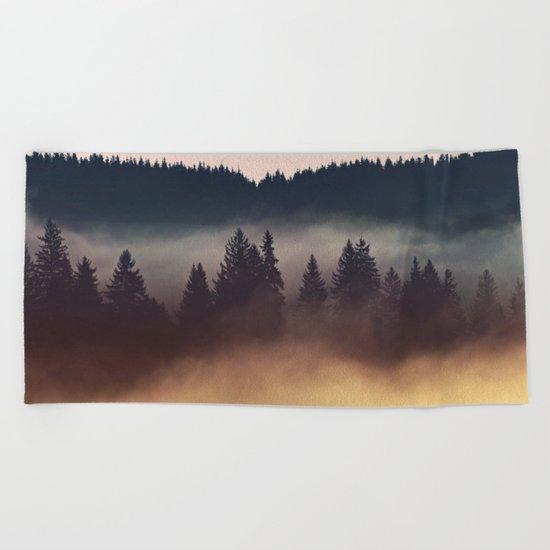 Foggy Layers Beach Towel