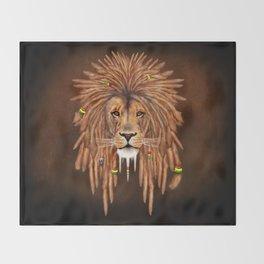Dreadlock Lion Throw Blanket