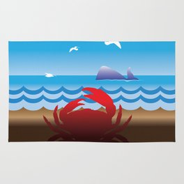 Crab Whale Watch Rug