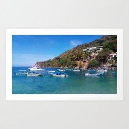Boca de Tomatlán beach Art Print