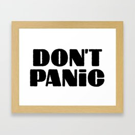 Don't  Panic (Hitchhiker's guide to the Galaxy) Framed Art Print