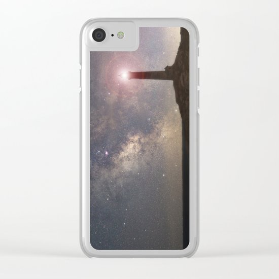 Milkyway over Thacher Island Clear iPhone Case