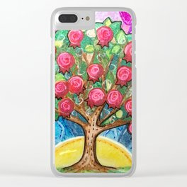 Pomegranate Tree Clear iPhone Case