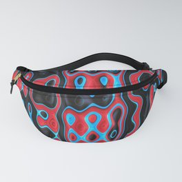 SHAMAN red black blue modern abstract design Fanny Pack