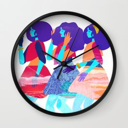 Trio of Graces Wall Clock