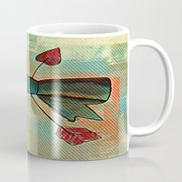 bow Mugs featuring Bow by Kerri Swayze