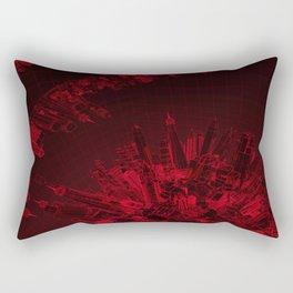 Future City Red Rectangular Pillow
