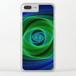 Green blue infinity Clear iPhone Case