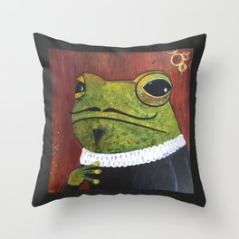 William Frogspeare Throw Pillow
