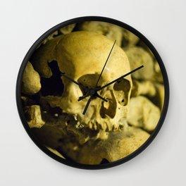 Wall of Bones Wall Clock