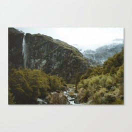 ROB ROY GLACIER NEW ZEALAND Canvas Print