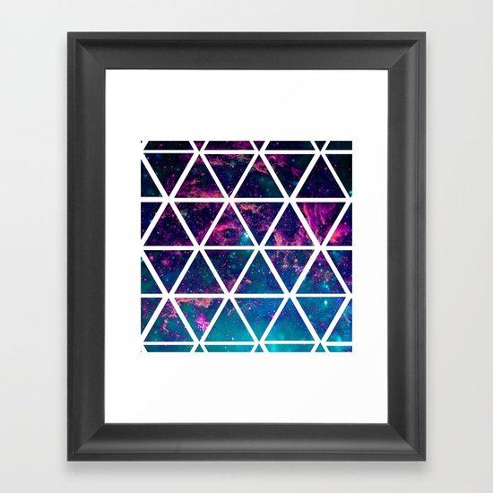 GALAXY TRIANGLES Framed Art Print