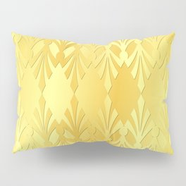 Art Deco Pure Gold Pattern Pillow Sham