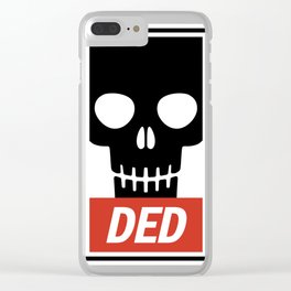 Ded skull poster Clear iPhone Case