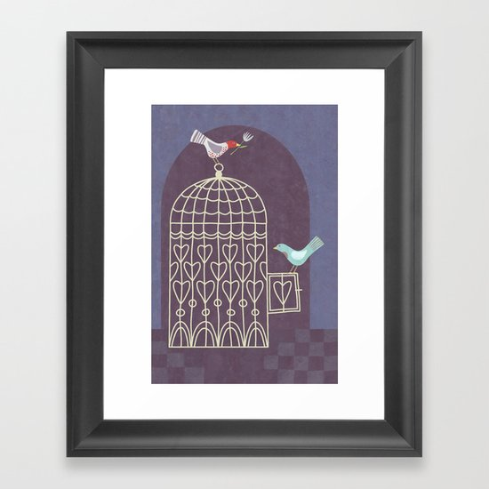 Leaving the Birdcage Framed Art Print
