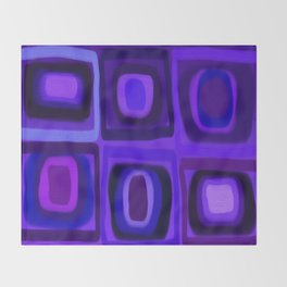 Violets in Blue Windows Throw Blanket