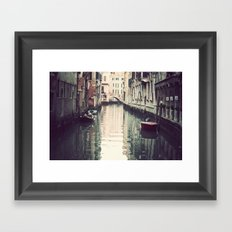 Boats in Venice Framed Art Print