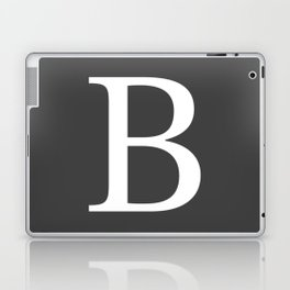 Very Dark Gray Basic Monogram B Laptop & iPad Skin