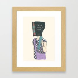 music in your mind Framed Art Print