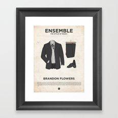 Ensemble - Brandon Flowers Framed Art Print