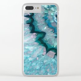 Teal Crystal Clear iPhone Case