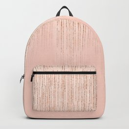Modern elegant blush pink gold glitter gradient Backpack
