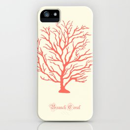 AFE Branch Coral, Living Coral iPhone Case