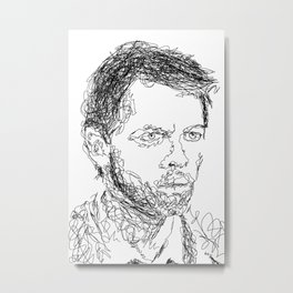 Misha Collins - Scribble Portrait Metal Print