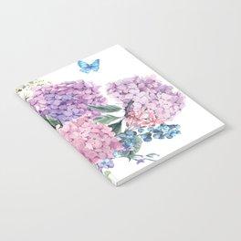 Summer Vintage Hydrangea Notebook