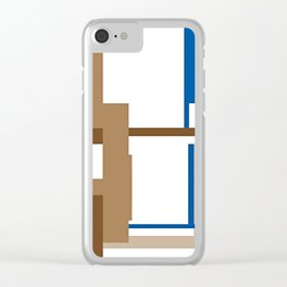 """CREATIVE ART PRINT WITH BROWN AND BLUE """"ANDY ANDY"""" Clear iPhone Case"""