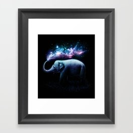 Elephant Splash Framed Art Print