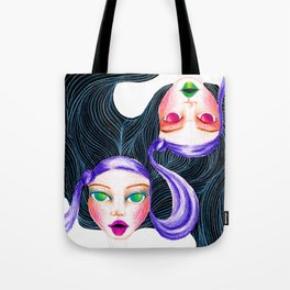 Gemini Twins Tote Bag