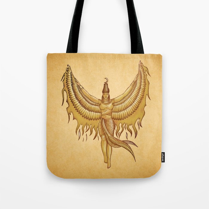Isis Goddess Egypt With Wings Of The Legendary Bird Phoenix Tote